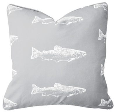 Brook Trout Pillow | Lake House Style | by Garson Jasper