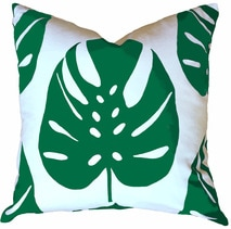 Monstera Pillow in Leaf | Beach House Style | by Garson Jasper